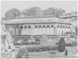 The great but ruined conservatory at Witley Court